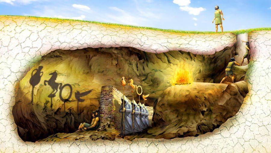 plato allegory of the cave eflatun platon magara metaforu benzetmesi